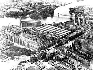 KWO, Luftbild von Osten, 1923