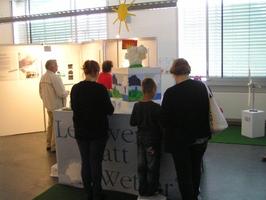 Lernwerkstatt-Station zur Werkschau 2012 entwickelt für das Wettermuseum Tauche/ Lindenberg © HTW Berlin / Tobias Nettke
