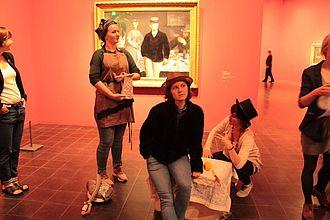 Übung zur Bildinterpretation in der Hamburger Kunsthalle © HTW Berlin / Tobias Nettke