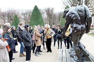 Besuch des Musée Rodin mit Führung und anschließendem Gespräch zum Thema 'Skulptur'. © HTW Berlin / Thomas Kämpfe