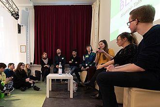 Alumni-Talk während der einBlicke 2020. © HTW Berlin / Marco Ruhlig