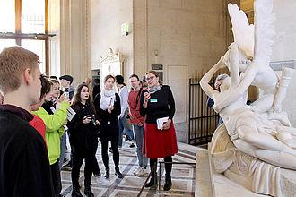 Gemeinsamer Rundgang durch ausgewählte Abteilungen des Louvre. © HTW Berlin / Thomas Kämpfe