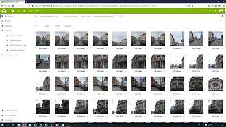 Screenshot der HTW-Cloud, mit der das Teilen von Daten in Projekten erleichtert wird © HTW Berlin / Screenshot