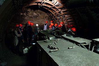 Vorführung einer Maschine im Steinkohlenbergwerk Guido in Zabrze. © HTW Berlin / Marco Ruhlig