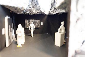 Einblick in ein Modell zu einer Ausstellungseinheit während der einBlicke 2020. © HTW Berlin / Marco Ruhlig
