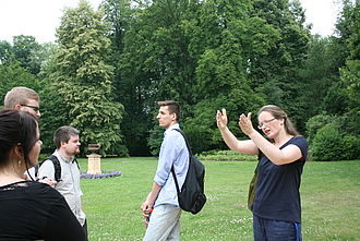 Besuch des Schlossgartens © HTW Berlin / Susanne Kähler
