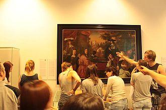 Museumspädagogische Übungsaufgabe zur Analyse eines Bildes im Museum für Hamburgische Geschichte © HTW Berlin / Tobias Nettke