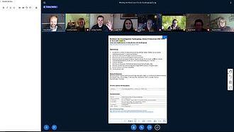 Screenshot einer Studiengangkonferenz mit der Plattform BigBlueButton der HTW © HTW Berlin / Screenshot