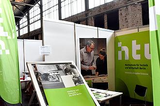 Der Messestand der HTW auf der Vocatium 2019. © HTW Berlin / Isabel Megatli