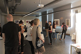 Publikum der Werkschau. © HTW Berlin / Tobias Nettke
