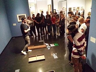 Museumspädagogische Übungsaufgabe zur Bildbetrachtung in der Hamburger Kunsthalle © HTW Berlin / Tobias Nettke