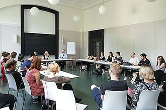 Fachgespräch über den Museumsdienst im Museum für Hamburgische Geschichte. © HTW Berlin / Katharina Faller. © HTW Berlin / Katharina Faller