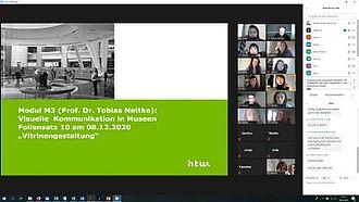Screenshot einer Lehrveranstaltung mit der Plattform Zoom der HTW © HTW Berlin / Screenshot
