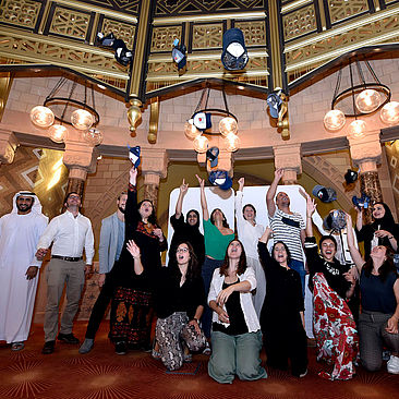 Teilnehmer*innen der SAWA 2019 im 'Museum of Islamic Civilizations' in Sharjah. © SAWA Museum Academy