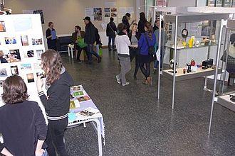 Projektpräsentationen aus MMK und MK in Raum 402. © HTW Berlin / Jürgen Feige