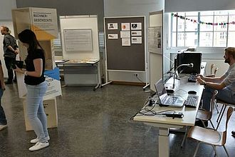 Das Computermuseum an der HTW präsentiert sich auf der Werkschau 2017. © HTW Berlin / Tobias Nettke