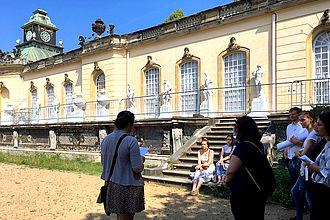 Übung vor Ort - Bildergalerie Friedrichs des Großen in Sanssouci. © HTW Berlin / Dorothee Haffner