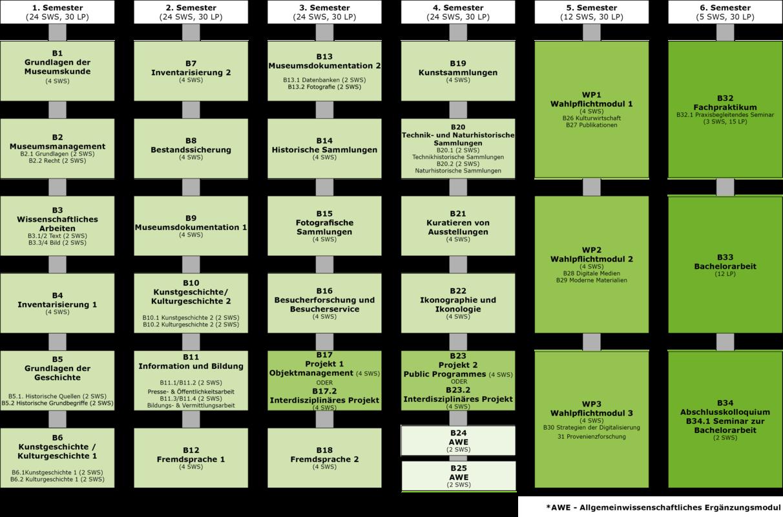 Curriculum Studiengang Museumskunde (gültig ab 2016)