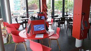 Blick ins Café Haberland © HTW Berlin / Tobias Nettke